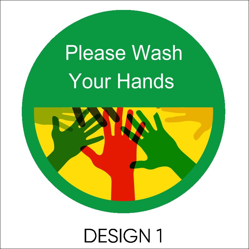 Wash Your Hands Vinyl Stickers 2