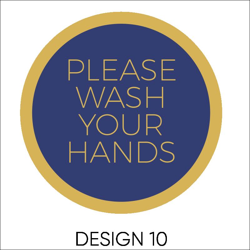 Wash Your Hands Vinyl Stickers 11