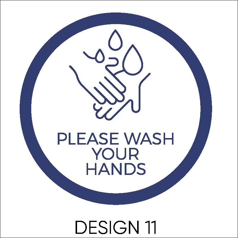 Wash Your Hands Vinyl Stickers 12
