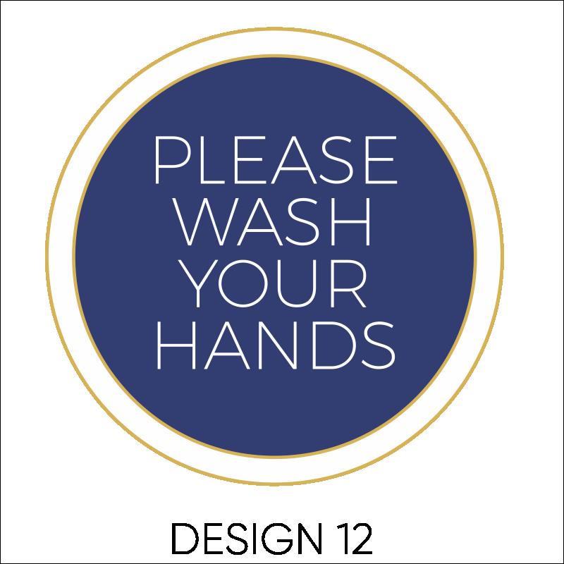 Wash Your Hands Vinyl Stickers 13