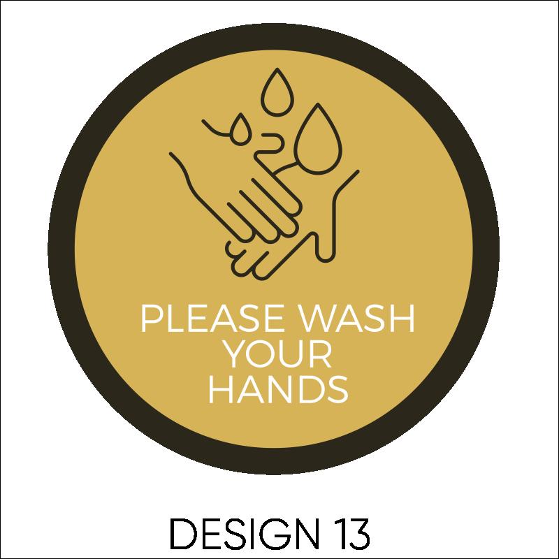 Wash Your Hands Vinyl Stickers 14