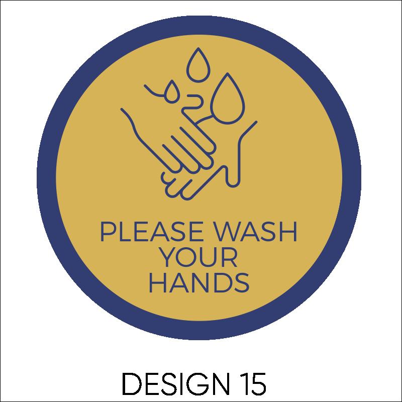 Wash Your Hands Vinyl Stickers 16