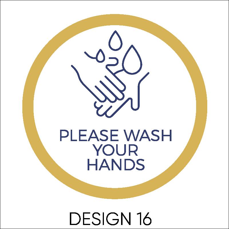 Wash Your Hands Vinyl Stickers 17