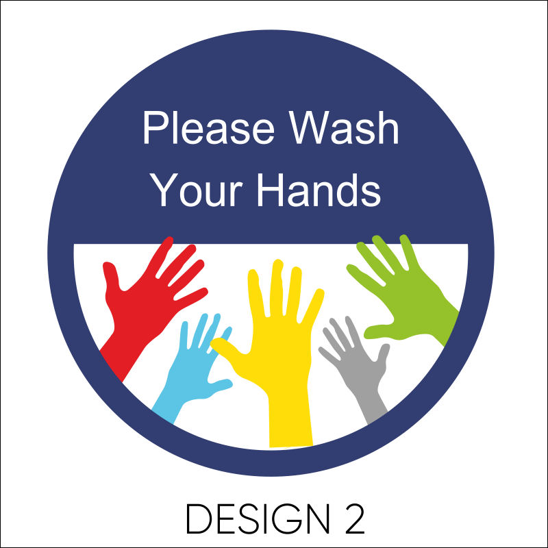 Wash Your Hands Vinyl Stickers 3