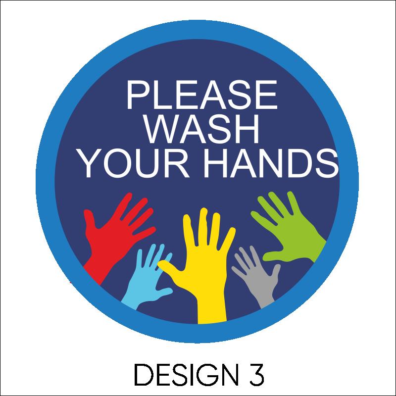 Wash Your Hands Vinyl Stickers 4