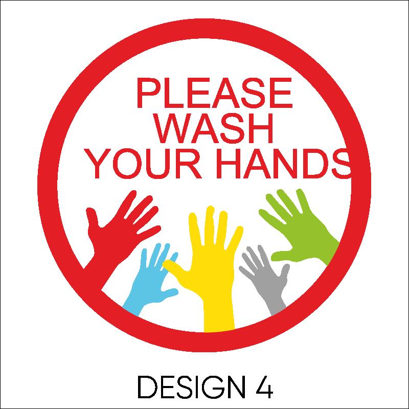 Wash Your Hands Vinyl Stickers 5