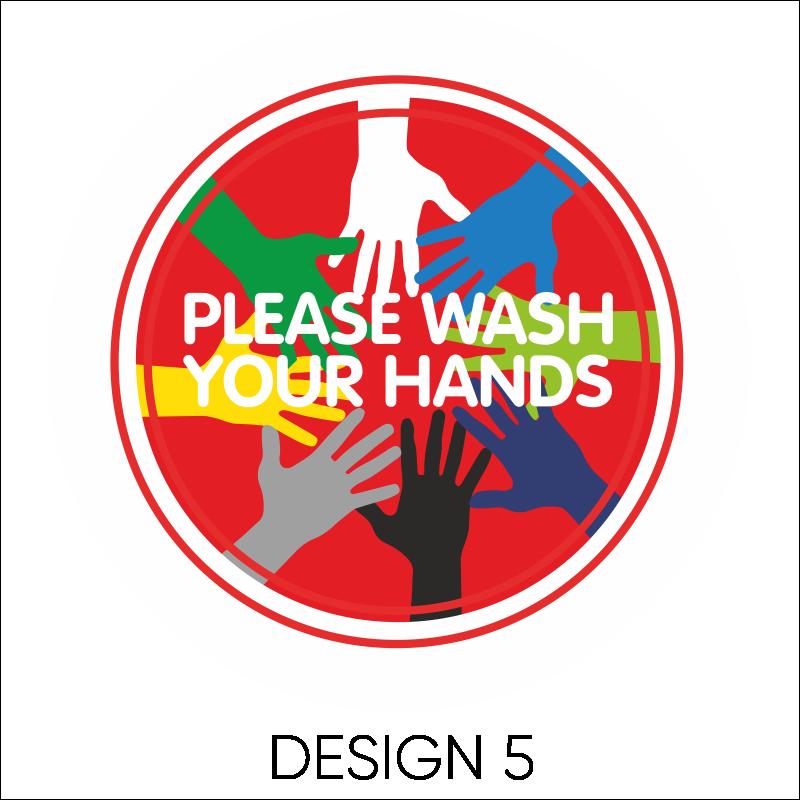 Wash Your Hands Vinyl Stickers 6