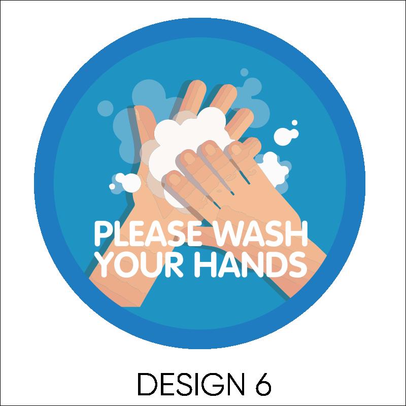 Wash Your Hands Vinyl Stickers 7