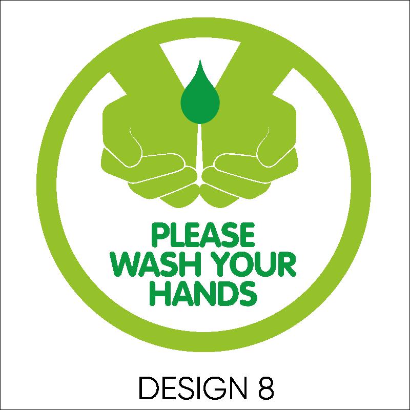 Wash Your Hands Vinyl Stickers 9
