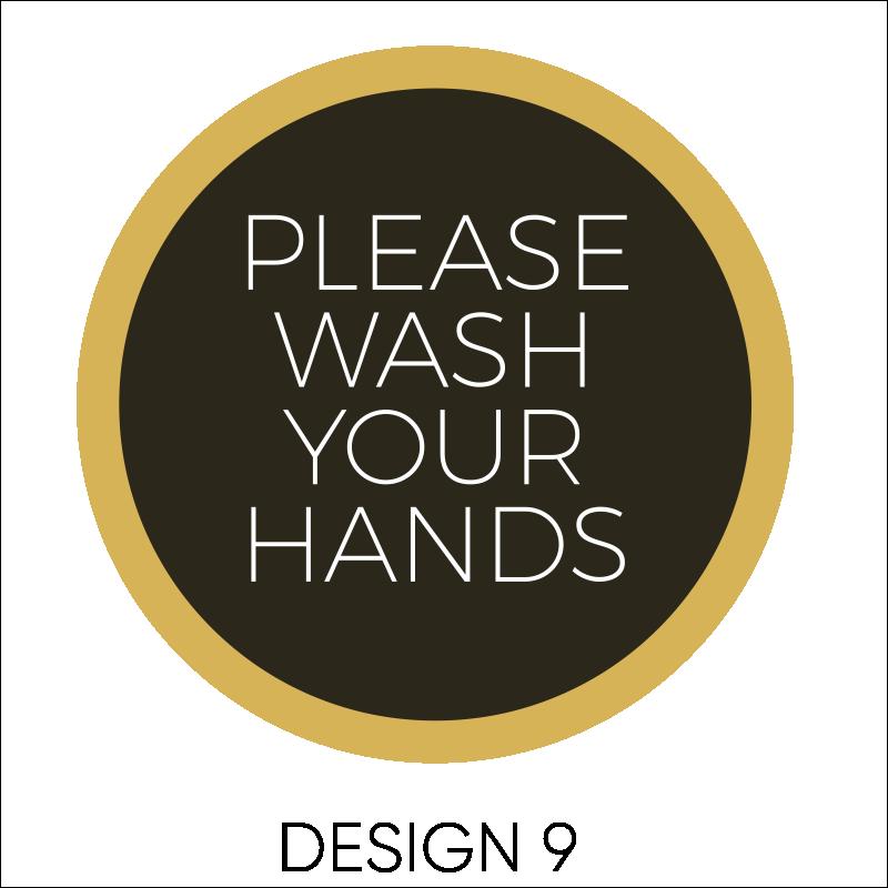 Wash Your Hands Vinyl Stickers 10