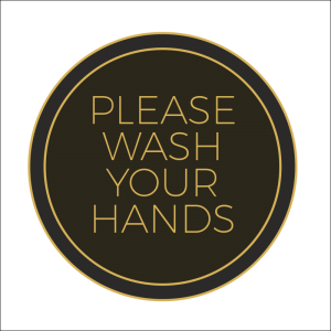Covid-19 Social Distance Wash Your Hands Wall Stickers