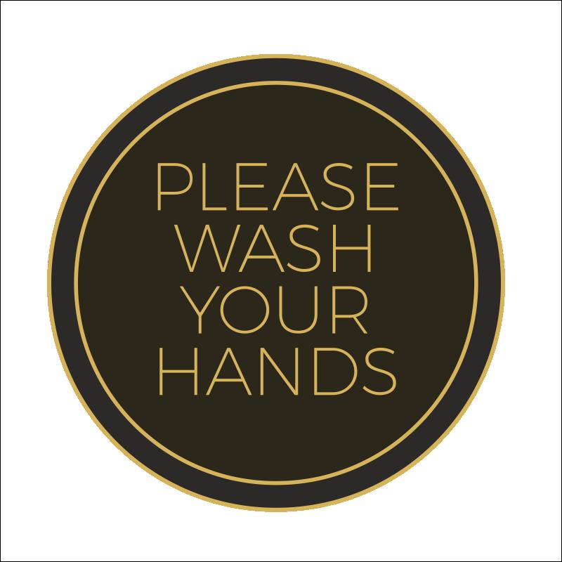Wash Your Hands Vinyl Stickers 1